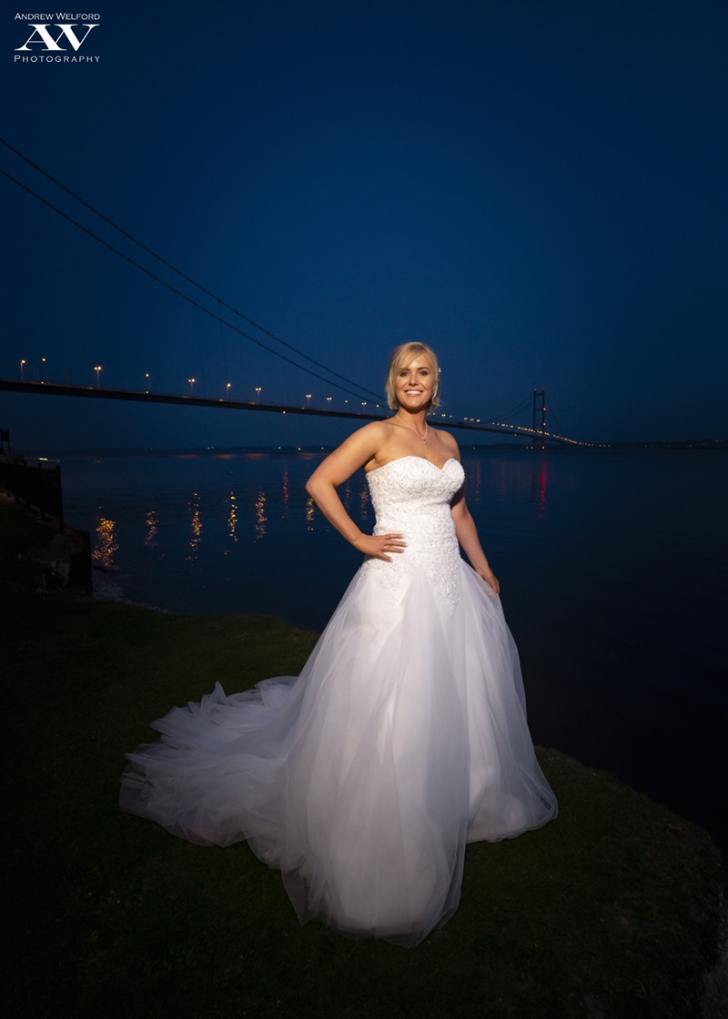 Bride on Hessle foreshore