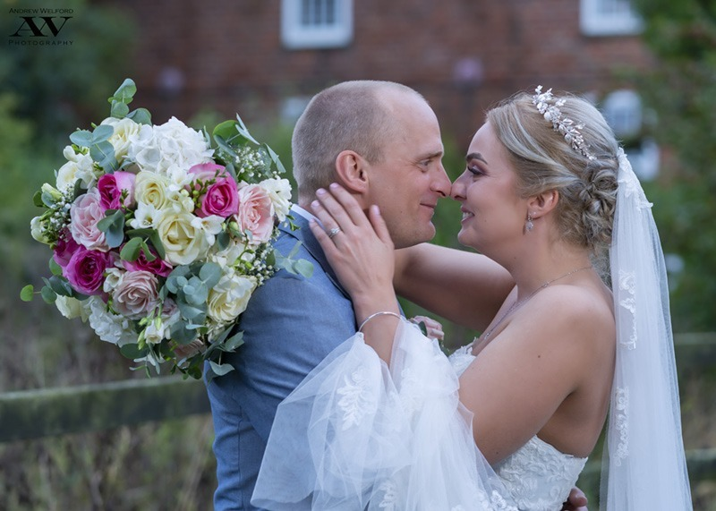 Bride and Groom at Skidby Millouse